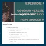 Boardgaming with Education, Podcast keren buat Guru-guru!